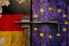Флаг выхода EC немца Dexit немецкий стоковое фото rf