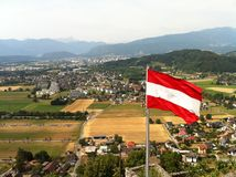 Флаг в Австрии Стоковые Фото