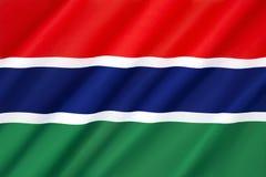 флаг Гамбия Стоковые Изображения RF