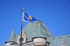 Флаг Квебека (город), Квебек (город), Канада Стоковая Фотография