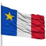 Флаг города Madawaska Acadia на флагштоке, США бесплатная иллюстрация