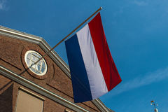 Флаг Голландии, Голландии, Амстердама Стоковое фото RF