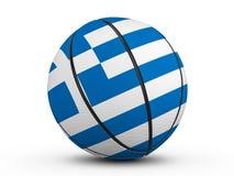 Флаг Греции шарика баскетбола Стоковое Изображение