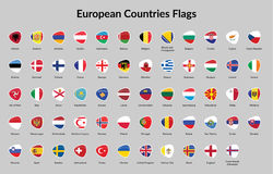 Флаг европейских стран Стоковое Изображение RF