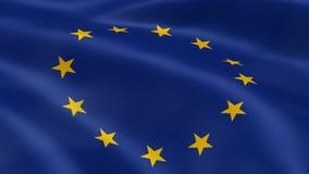 Флаг Европейского союза в ветре иллюстрация штока