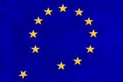 Флаг Европейского союза падая врозь стоковое изображение