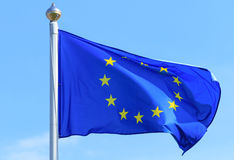Флаг Европейского союза Стоковая Фотография