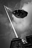 Флаг замка Кардиффа Стоковые Фотографии RF