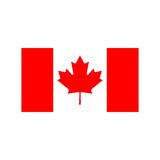 Флаг дизайна вектора Канады Стоковое фото RF