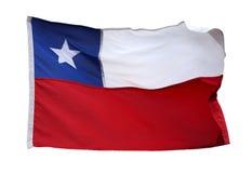 Флаг изолированной Чили - Стоковые Изображения