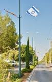 Флаг Израиля на День независимости Стоковое Фото