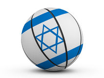 Флаг Израиля шарика баскетбола Стоковая Фотография RF