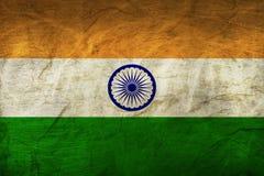 Флаг Индии на бумаге Стоковое Изображение