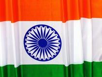 флаг Индия День независимости 15-ое августа Республики Индия Стоковое Изображение RF