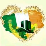 Флаг Ирландии на сердце grunge иллюстрация штока