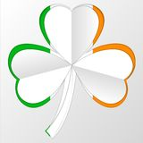 Флаг Ирландского и комбинация символа на белизне Стоковые Фото