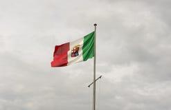Флаг Италия военно-морского флота Стоковые Фото
