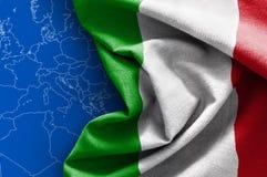 флаг Италия Стоковая Фотография