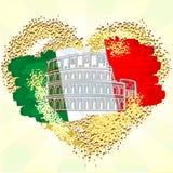 флаг Италия иллюстрация вектора