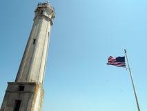 Флаг и башня Стоковое Фото