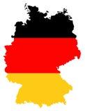Флаг и карта Германии Стоковые Изображения