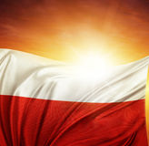 Флаг и небо Стоковые Фото
