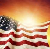 Флаг и небо Стоковые Изображения