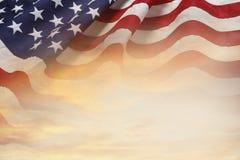 Флаг и небо стоковое фото rf