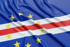 Флаг Кабо-Верде Стоковое Изображение RF