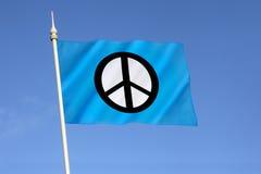Флаг кампании для ядерного разоружения - CND Стоковое фото RF