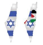 Флаг карты Израиля Стоковое Фото