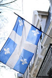 Флаг Квебека в Монреале вздымаясь в ветерке Стоковые Изображения RF