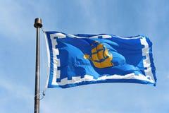 Флаг Квебека (город), Канады Стоковая Фотография RF