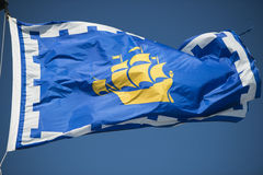 Флаг Квебека (город) Стоковая Фотография RF