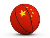 Флаг Китая шарика баскетбола Стоковое Изображение