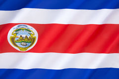Флаг Костарика Стоковая Фотография RF