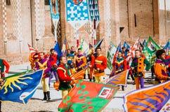 Флаг-колеблет средневековое Стоковые Изображения RF