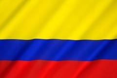флаг Колумбии Стоковое Изображение