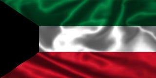 Флаг Кувейта Стоковое фото RF