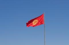 Флаг Кыргызстана Стоковые Фото