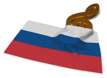 Флаг ключа и русского Стоковое Изображение RF