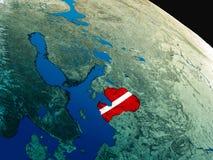 Флаг Латвии от космоса Стоковое Фото