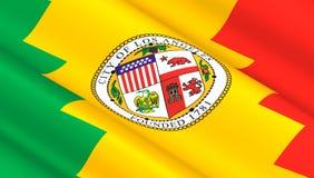 Флаг Лос-Анджелеса Стоковые Изображения