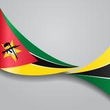 Флаг Мозамбика волнистый также вектор иллюстрации притяжки corel Стоковые Изображения RF