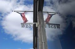 Флаг на Имперском штате Buliding Стоковая Фотография
