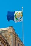 Флаг на Мальте Стоковая Фотография