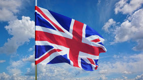 Флаг на небе Стоковое Изображение