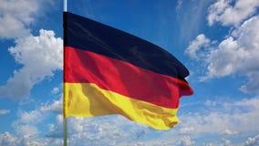 Флаг на небе Стоковое фото RF