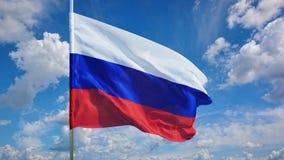 Флаг на небе Стоковая Фотография RF