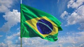 Флаг на небе Стоковые Изображения